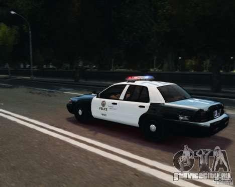 Ford Crown Victoria LAPD для GTA 4 вид сбоку