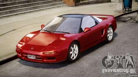 Acura NSX 1991 для GTA 4 вид справа