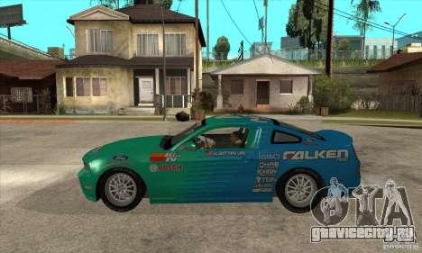 Ford Mustang GT Falken для GTA San Andreas вид слева