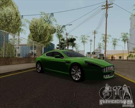 Aston Martin Rapide 2010 V1.0 для GTA San Andreas вид сзади слева