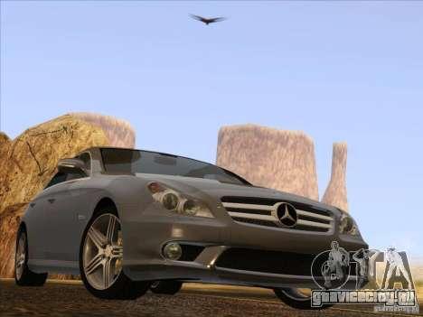 Mercedes-Benz CLS63 AMG для GTA San Andreas вид сзади