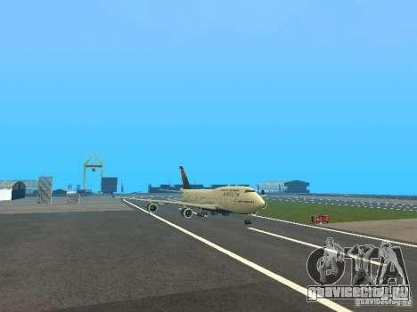 Boeing 747-400 Delta Airlines для GTA San Andreas вид слева