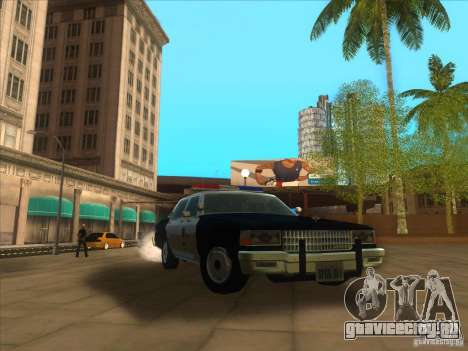 Chevrolet Caprice Interceptor LAPD 1986 для GTA San Andreas вид изнутри