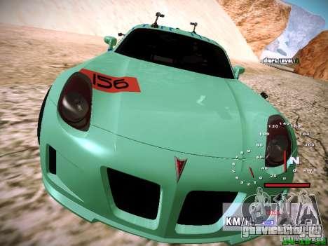 Pontiac Solstice Falken Tire для GTA San Andreas вид снизу