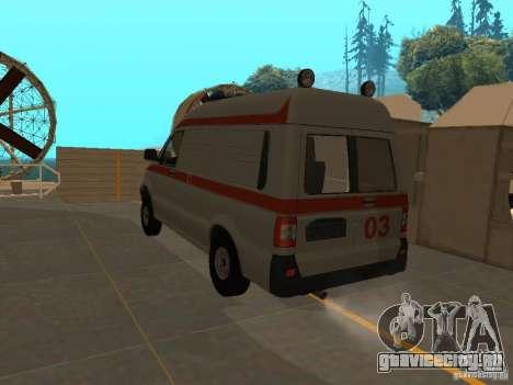 УАЗ Симба Скорая помощь для GTA San Andreas вид слева
