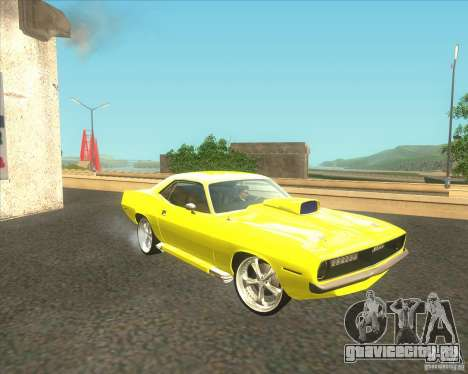 Plymouth Barracuda для GTA San Andreas вид изнутри