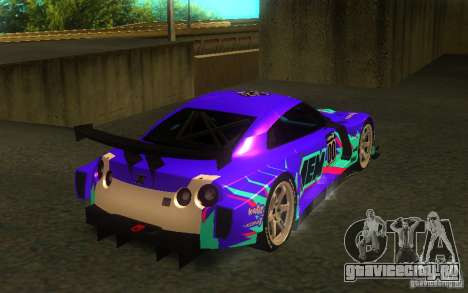 Nissan Skyline R35 GTR для GTA San Andreas вид справа