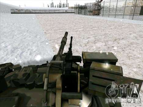 Т-90 из Battlefield 3 для GTA San Andreas вид сзади