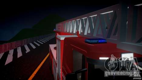 Scania Fire Ladder v1.1 Emerglights blue [ELS] для GTA 4 вид сверху