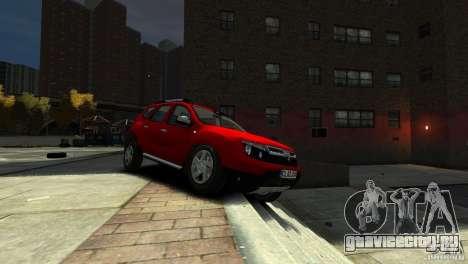 Dacia Duster SUV 4x4 2010 для GTA 4 вид сзади