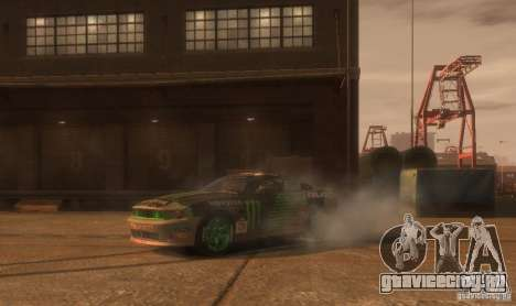 Ford Mustang Monster Energy 2012 для GTA 4 вид сбоку