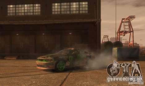 Ford Mustang Monster Energy 2012 для GTA 4 вид сбоку