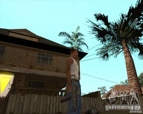 UMP-45 с прицелом ACOG-54 для GTA San Andreas третий скриншот