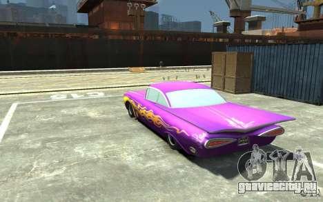 Raymone из Cars Mater-National для GTA 4 вид сзади слева