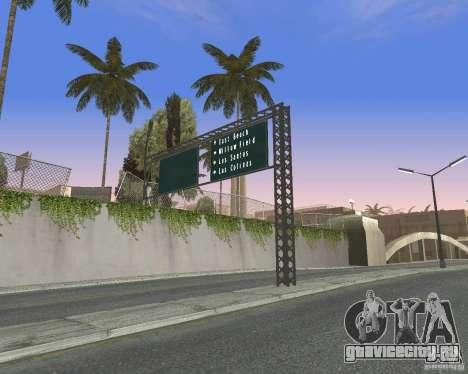 Дорожные указатели v1.0 для GTA San Andreas