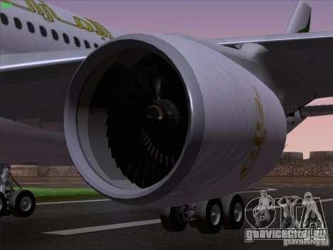 Airbus A330-200 Emirates для GTA San Andreas вид сбоку