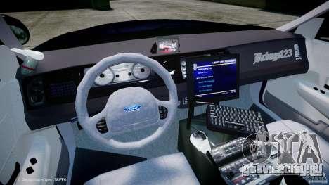 Ford Crown Victoria New York State Patrol [ELS] для GTA 4 вид сзади