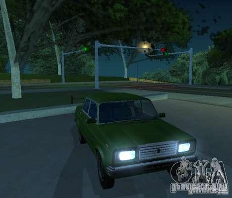 Ваз 2107 Стритрейсер для GTA San Andreas вид слева