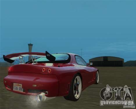 Mazda RX-7 weapon war для GTA San Andreas вид слева