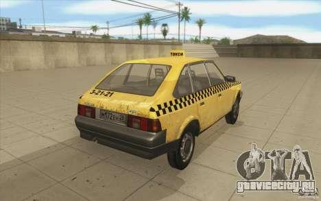 АЗЛК 2141 Москвич Такси v2 для GTA San Andreas вид сбоку