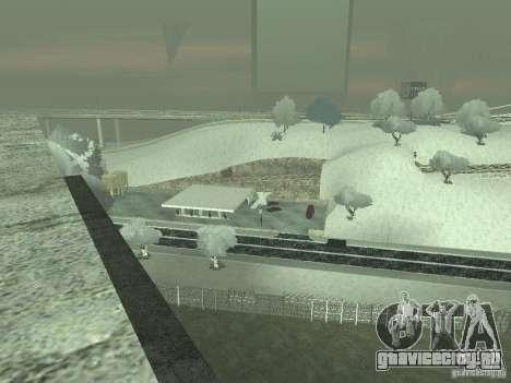 Снег v2.0 для GTA San Andreas шестой скриншот