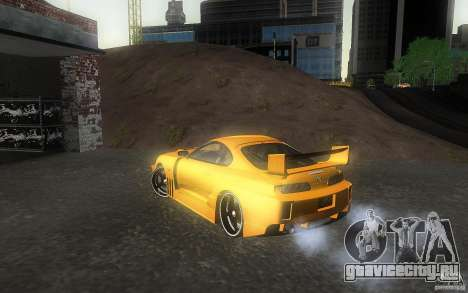 Toyota Supra Chargespeed для GTA San Andreas вид слева