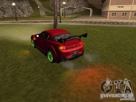 Mazda RX-8 R3 Tuned 2011 для GTA San Andreas салон
