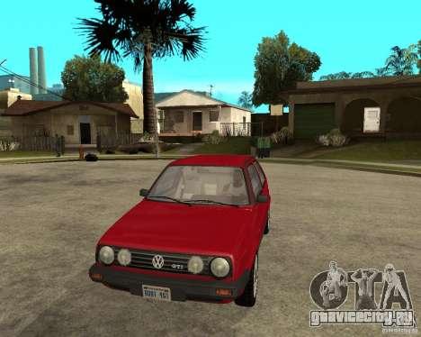 Volkswagen Golf Mk.II для GTA San Andreas вид сзади