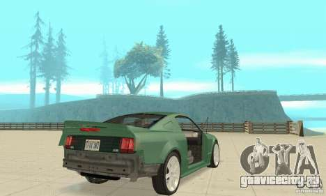 Saleen S281 v2 для GTA San Andreas вид снизу
