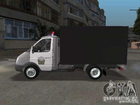 ГАЗ 3302 Милиция для GTA San Andreas вид слева
