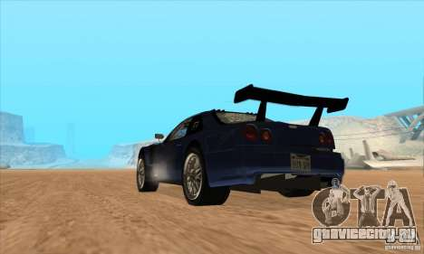 Nissan Skyline R34 GT-R LM для GTA San Andreas вид изнутри