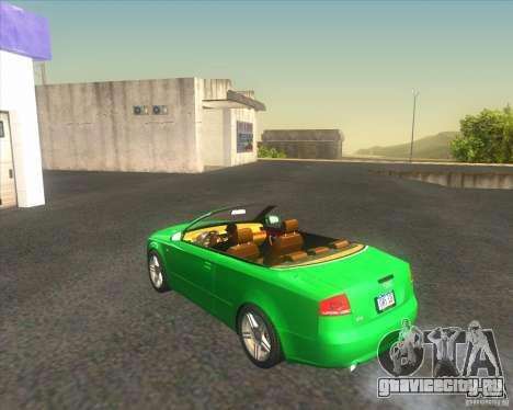 Audi A4 Convertible 2005 для GTA San Andreas вид сзади слева