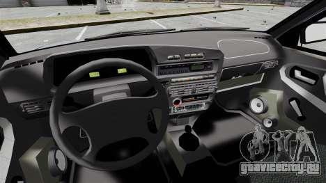 ВАЗ-2114 v1.1 для GTA 4 вид изнутри