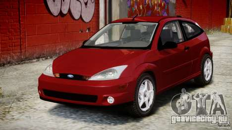 Ford Focus SVT для GTA 4 вид сзади