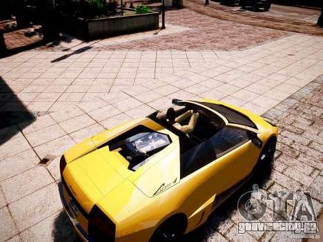 Lamborghini Murcielago LP650-4 Roadster для GTA 4 вид справа