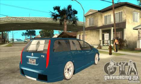 Citroen C5 Break для GTA San Andreas вид справа