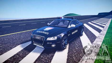 Audi S5 Hungarian Police Car black body для GTA 4 вид изнутри
