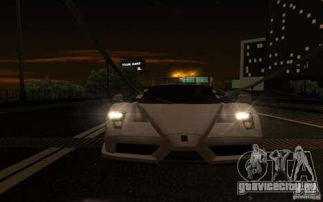 Ferrari Enzo ImVehFt для GTA San Andreas вид изнутри