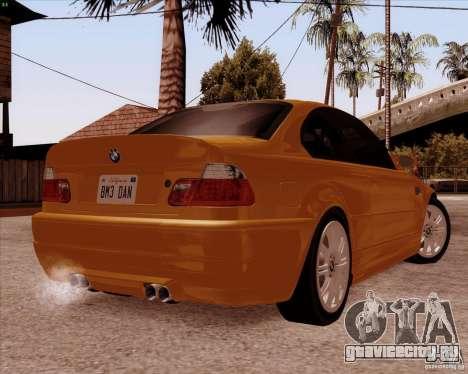 BMW M3 E46 stock для GTA San Andreas вид сбоку
