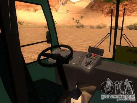 ПАЗ 3203 для GTA San Andreas вид изнутри