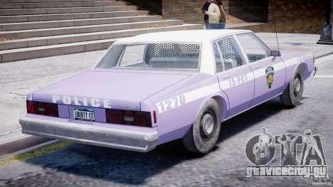 Chevrolet Impala Police 1983 v2.0 для GTA 4 вид сверху