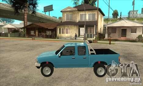 Toyota Hilux CD для GTA San Andreas вид слева