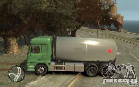 Mercedes Benz Actros Gas Tanker для GTA 4 вид сбоку