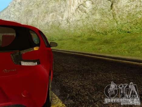 Aston Martin Cygnet для GTA San Andreas вид сзади