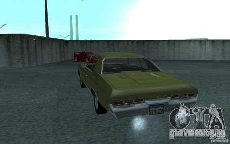 Chevrolet Impala 1971 для GTA San Andreas вид сзади