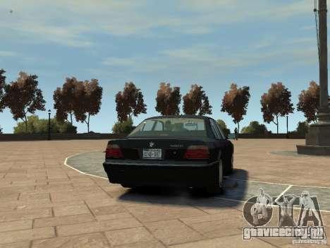 BMW 750i (E38) 1998 для GTA 4 вид справа
