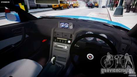 Nissan Skyline R-34 V-spec для GTA 4 вид сзади