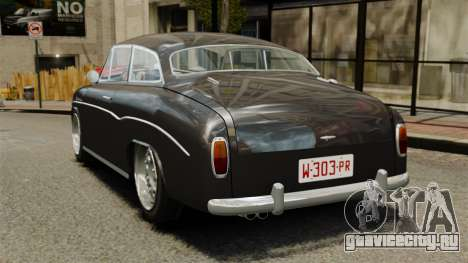 Syrena Coupe V8 для GTA 4 вид сзади слева