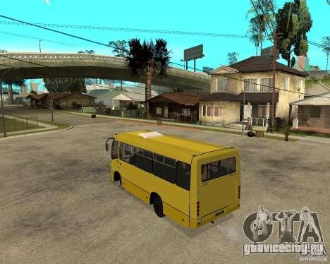 Маршрутка Богдан A092 для GTA San Andreas вид сзади слева