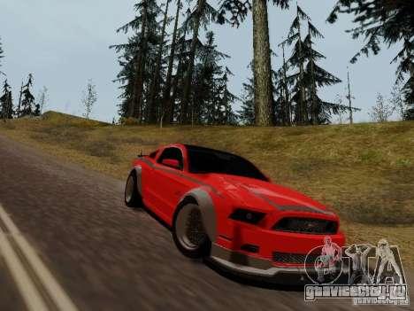 Ford Mustang RTR Spec 3 для GTA San Andreas вид сзади слева